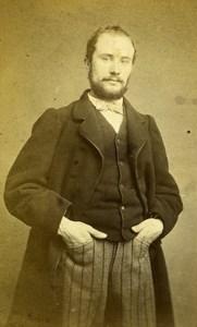France Roubaix man old CDV Photo Kips de Coppin 1865