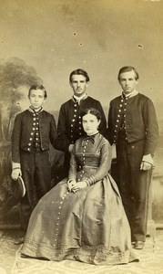 France Blois Family Group Portrait Second Empire old CDV Photo Mieusement 1865