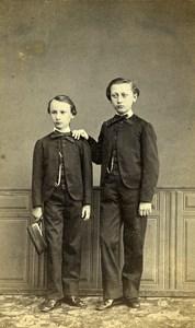 France Roubaix Family Group Portrait Second Empire old CDV Photo Leon 1865