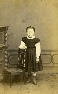 Belgium Tournay Children Portrait Second Empire old CDV Photo Duchatel 1865