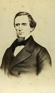 France Paris Portrait President USA Jefferson Davis old CDV Photo Deplanque 1865
