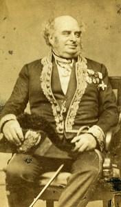 France Paris Portrait Second Empire Uniform old CDV Photo Albites 1865