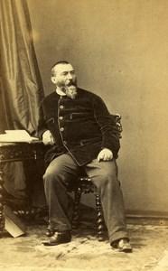 France Paris Portrait Writer Alphonse Karr old CDV Photo Disderi 1865
