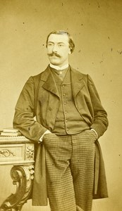 France Paris Writer Emmanuel Mennessier Nodier old CDV Photo Hallier 1865