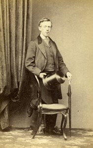 United Kingdom Liverpool Man Victorian Fashion Old CDV Photo Keith 1865