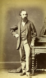 United Kingdom Harrogate Man Victorian Fashion Old CDV Photo Holroyd 1865