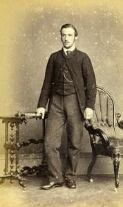 United Kingdom York Man Victorian Fashion Old CDV Photo Gowland 1865