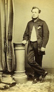 United Kingdom Cambridge Man Victorian Fashion Old CDV Photo Puch 1865