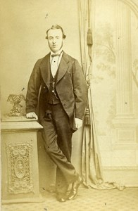 United Kingdom Brixton Man Victorian Fashion Old CDV Photo Ward 1865