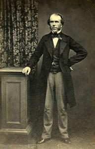 United Kingdom London Man Victorian Fashion Old CDV Photo Metcalfe 1865