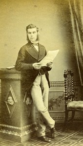 United Kingdom Blandford Man Victorian Fashion Old CDV Photo Nesbitt 1865