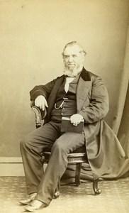 United Kingdom Harrogate Man Victorian Fashion Old CDV Photo Holroyd 1865