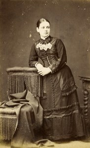 United Kingdom Sherborne Woman Victorian Fashion Old CDV Photo Gosney 1865