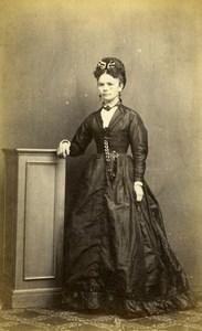 United Kingdom Ely Woman Victorian Fashion Old CDV Photo Cooke 1865