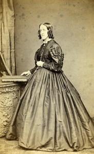 United Kingdom Sunderland Woman Victorian Fashion Old CDV Photo Stabler 1865