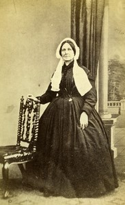 United Kingdom Withn Woman Victorian Fashion Old CDV Photo 1865