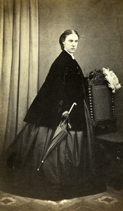 United Kingdom Sutton Woman Victorian Fashion Old CDV Photo Starbuck 1865