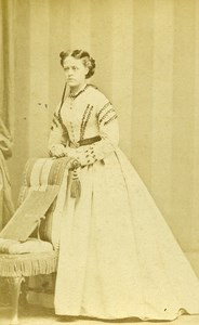 United Kingdom Liverpool Woman Victorian Fashion Old CDV Photo Emmens 1865