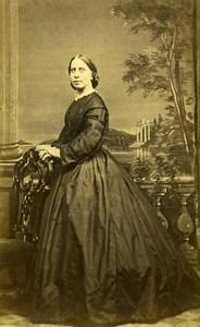 United Kingdom Lewisham Woman Victorian Fashion Old CDV Photo Legood 1865
