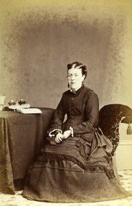 United Kingdom Spalding Woman Victorian Fashion Old CDV Photo Beates 1865