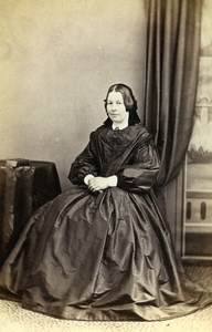 United Kingdom Nothallerton Woman Victorian Fashion Old CDV Photo Cooper 1865