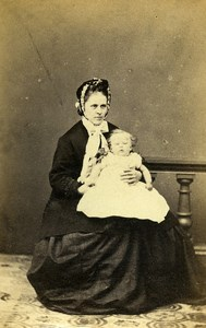 United Kingdom Sherborne Woman Child Victorian Fashion CDV Photo Chaffin 1865