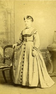 United Kingdom Wincanton Woman Victorian Fashion Old CDV Photo Goodfellow 1865
