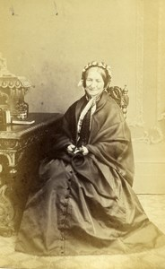 United Kingdom Ripon Woman Victorian Fashion Old CDV Photo Clarke 1865
