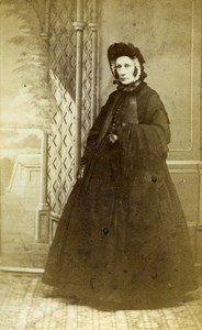 United Kingdom London Woman Victorian Fashion Old CDV Photo Evans 1865