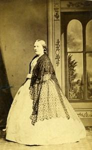 United Kingdom Harrogate Woman Victorian Fashion Old CDV Photo Holroyd 1865