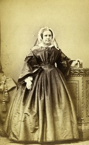 United Kingdom Harrogate Woman Victorian Fashion Old CDV Photo Holroyd 1865