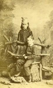 United Kingdom St John Children Victorian Fashion Old CDV Photo Collins 1865