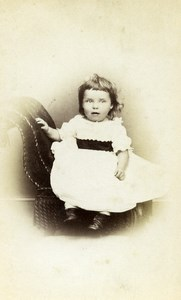United Kingdom Bedale Children Victorian Fashion Old CDV Photo Sherwood 1865