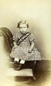 United Kingdom Bedale Children Victorian Fashion Old CDV Photo Sherwood 1865