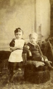 United Kingdom Blandford Children Victorian Fashion Old CDV Photo Nesbitt 1865