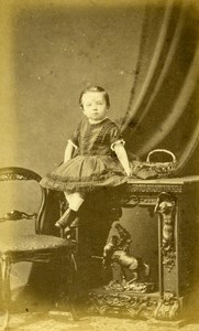 United Kingdom Cambs Children Victorian Fashion Old CDV Photo Goshawk 1865