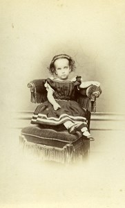 United Kingdom London Children Victorian Fashion Old CDV Photo Garlick 1865