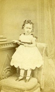 United Kingdom Sleaford Children Victorian Fashion Old CDV Photo Tippins 1865