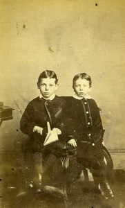 United Kingdom Carlisle Children Victorian Fashion Old CDV Photo Kidd 1865