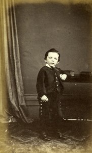 United Kingdom Norwich Children Victorian Fashion Old CDV Photo Beales 1865