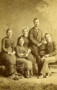 United Kingdom Halifax Family Group Victorian Fashion Old CDV Photo Greaves 1865