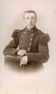 France Nancy Military Soldier Old CDV Photo Thiriot 1890