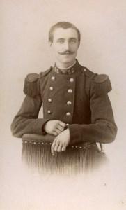 France Nancy Military Soldier Old CDV Photo Thiriot 1890