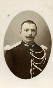 France Lille Military Soldier Old CDV Photo Godard 1890