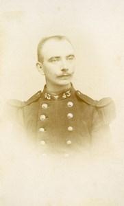 France Roubaix Military Soldier Old CDV Photo Elkan 1890