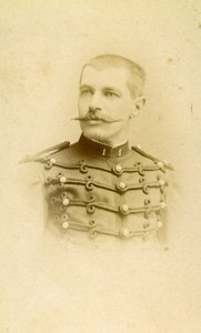 France Lille Military Soldier Old CDV Photo Ferrand 1890