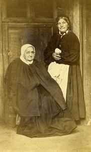 France Arras Women Traditional Fashion Old CDV Photo Desavary 1865