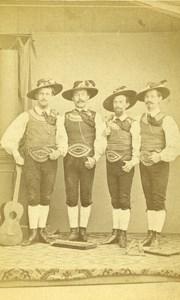France Nice Musicians Old CDV Photo Moosbrugger 1865