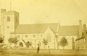 United Kingdom Luton Church Old CDV Photo Taylor 1865