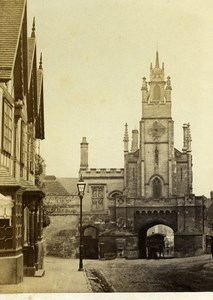 United Kingdom Warwick East Gate Old CDV Photo Bedford 1865